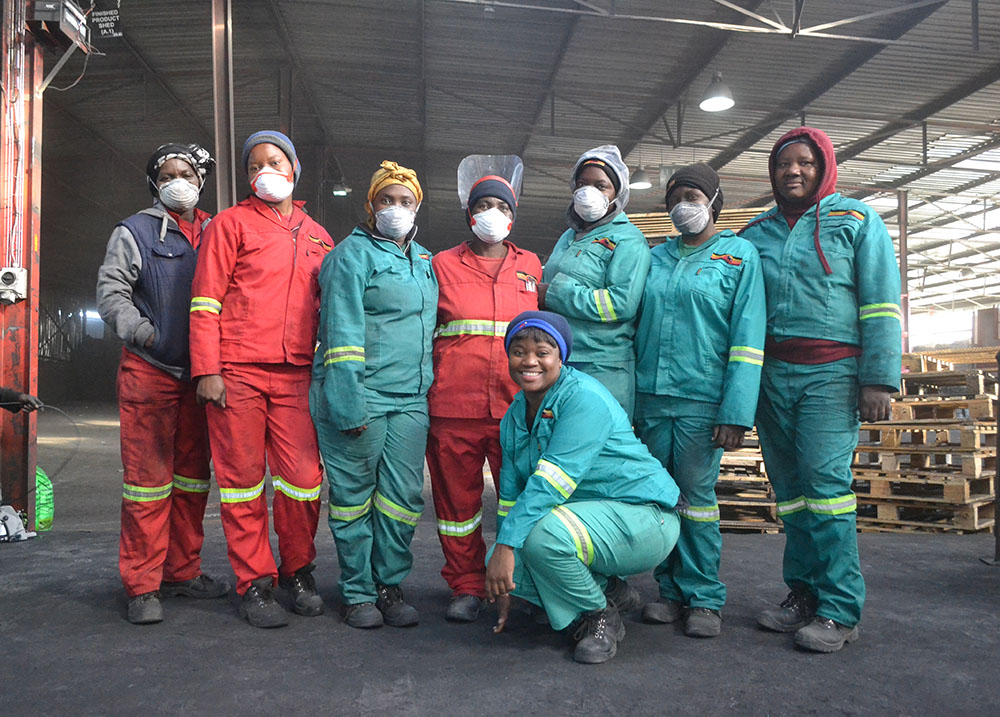 Women hold most of the team leader positions at Jumbo Charcoal